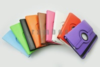 300pcs/lot Magnetic 360 Degree Rotating Leather Skin Cover Case for iPad mini free shipping
