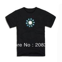 Luminous t-shirt plus size 100% cotton male short-sleeve T-shirt clothes loose
