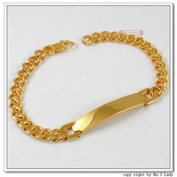 Stainless Steel Gold Plated Bracelets For Women ID Hand Chain Womens Mens Fashion Jewelry 2013,Wholesale Free shipping,WB005