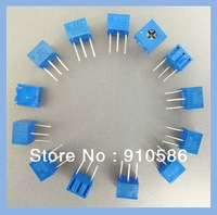 Trimpot Trimmer potentiometers Assorted Kit Single-Turn 3362P 100ohm-1Mohm ,variable resistor 13values*2pc=26pcs