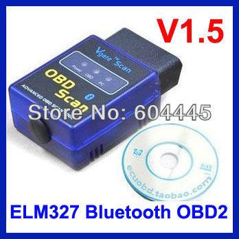 30PCS Mini ELM327 Bluetooth OBD2 OBD II V1.5 bluetooth elm327 wireless scan tool For Multi-brands -- Auto Car Diagnostic Scanner