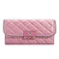 Free shipping DHL mail!Genuine leather women's handbag sheepskin dimond plaid fashion women's day clutch shoulder bag