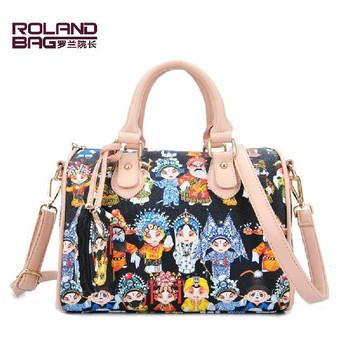 Hot Opera Mask PU Leather Handbag Tote Shoulder Bags Woman Handbag Fashion Women Designer Shoulder Bag Wholesale Drop Ship