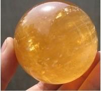 Natural citrine calcite quartz crystal the spherical ball healing gem 40MM