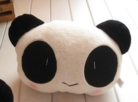 2Pcs/Lot wholesale cute cartoon panda head pillow Car Seat Neck / Head Pillow