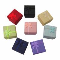 Paper box Free shipping 100 pcs 4 x 4 cm ring box stud earring box & jewelry box