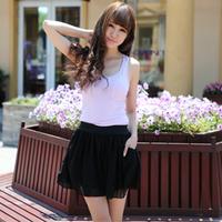 2013 New Free Shipping Summer short skirt culottes plus size high waist shorts chiffon skirt pants loose shorts