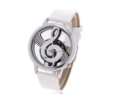 Wholesale New Fashion Leather Music Symbol Pattern Watch for Female.TOP quality.(China (Mainland))