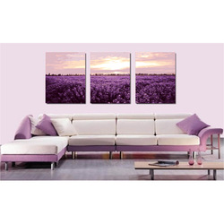 2 pcs/lot,hand painted on canvas Home wall decoration Abstract Landscape Figure Oil Painting,Lavender the ocean,Christmas gift(China (Mainland))
