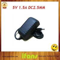 High Quality! Tablet PC EU/US Wall Charger ,5V 1.5A DC 2.5 Power Adapter , Tablet PC EU/US Charger