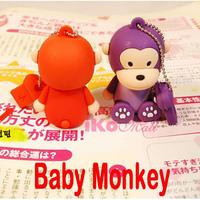 5% off big discount 6 colors 4GB/8GB/16GB Cartoon Monkey USB Flash Memory Drive Stick