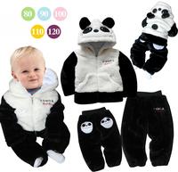 free shipping warm winter panda style baby suit