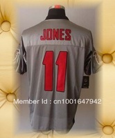 Brand New Atlanta Football Jerseys 11 Julio Jones Mens Grey Shadow Elite Jerseys