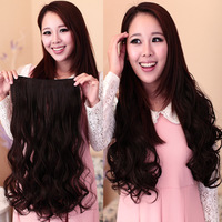 Princess Lie wig big wave clip one piece hair extension piece wig piece volume hair piece really hair piece