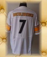 Brand New Pittsburgh Football Jerseys 7 Ben Roethlisberger White Black Grey Shadow Elite Jerseys