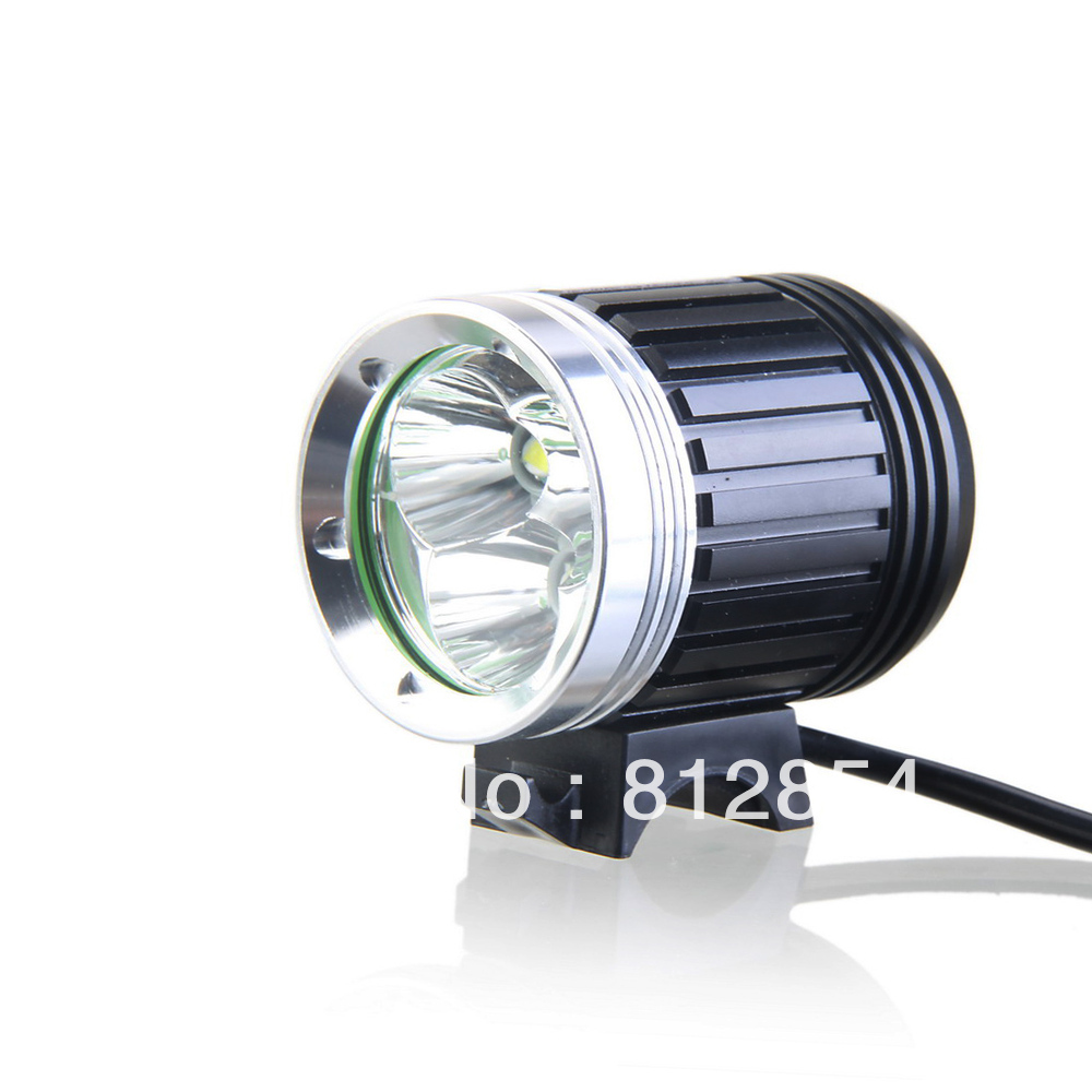 Kinfire Y3 3600 Lumens 4-Mode 3*Cree-T6 Bright White Light LED Headlamp with Adjustable Head Strap/Battery Pack (Black)(China (Mainland))