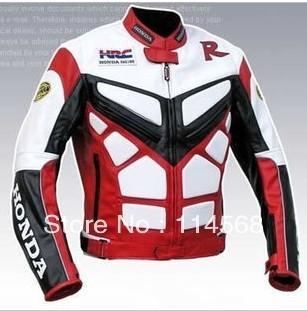 New Moto GP motorcycle Racing Leather Jacket size S - XXL