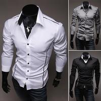 2013 hot sale Free Shipping New Mens Shirts Casual Slim Fit Stylish Mens Dress Shirts 5902