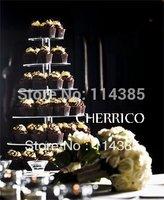 7 tier round acrylic cupcake stand, 7 tier round perspex cupcake stand, 7 tier wedding cake stand