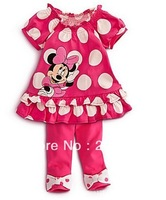 wholesale 5sets/lot 2013 hot selling cartoon girl summer suit set