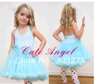 4pcs/1lot   children dress girls princess dress tutu leice  dots dresses for summer colors  GGX