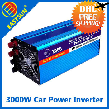 DHL freeshipping EASTSUN 3000W Off Grid Modified Sine Wave Car Power Inverter Peak Power 5000W DC 12V to AC 220V 5V USB Port