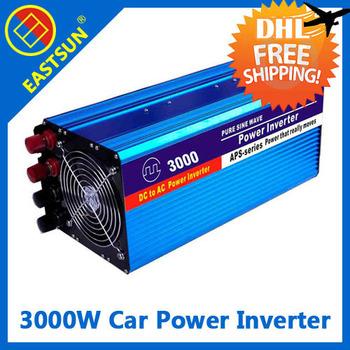 DHL freeshipping EASTSUN 3000W Off Grid Modified Sine Wave Car Power Inverter Peak Power 5000W DC 12V to AC 220V 5V USB Port
