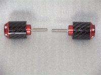 Carbon fiber bar end  for hon da CBR1000RR 04 05 06 07 08 09 10 Red