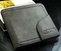 Free shipping2012 new stylish Men wallet+ genuine cow Leather +mens coin purse,black color,dropshipping,wholesale  MSW112