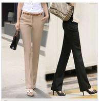 2012 autumn ol woman pants slim straight pants(China (Mainland))