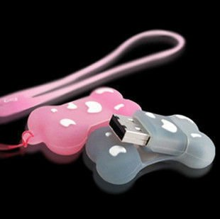 Guaranteed full capacity Cute Dog Bone Thumbdrive USB3.0 Flash Drive Disk 5pcs/lot