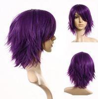 Cosplayland - C197 40cm layered flip out heat-resist Theater Cosplay Wig - Purple