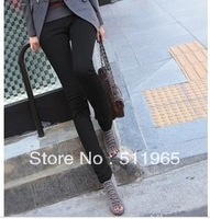 women's clothing straight slim pants elastic boot cut rousers 3 colors