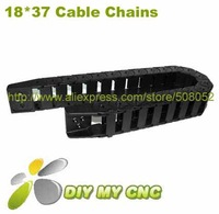 18X37 Drag Chain - Cable Carrier 18*37mm 1000mmplastic cable chain with End Connectors
