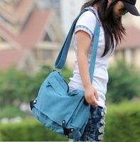 Fashion Cheap 2012 top quality canvas shoulder  handbag women's  casual messenger handbag Free shipping