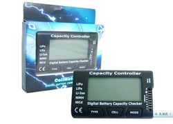 F01974 G.T.POWER Digital Battery Capacity Checker , Cell meter For NiCd NiMH , Li-Po,LiFe,Li-lon AKKU Cellmeter-7+free shipping(China (Mainland))