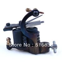 Free Shipping Motorbike Cast Iron 8 Wrap Coil Dual-coiled Tattoo Machine Gun Shader