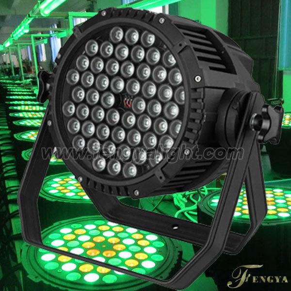 4PCS ONE LOT 54pcs-3watt RGBW outdoor led par can stage light(China (Mainland))