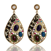 Ultralarge exaggerated earrings bohemia multicolour drop personalized earrings earring drop earring