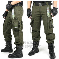 Outdoor trousers male overalls multi-pocket casual pants loose field tactical trousers