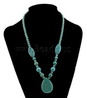 2013 New Fashion Free Shipping sweater teardrop charm Turquoise Necklace 10pcs/lot