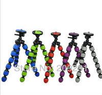 Free shipping wholesale (5pcs/lot) Multicolor Flexible Portable Plastic Tripod  L Size for Digital Camera