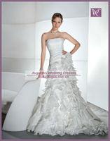 AWB1392 Fashionable Handmade Flower Strapless Layered Wedding Dresses Removable Skirt  custom made