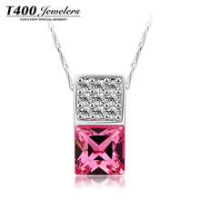 Holiday sale T400 made with swarovski elements crystal 925 sterling silver necklace 1917 free shipping