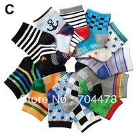 [Free Shipping] Top Quality! cotton child sock  , anti slip baby socks , multicolor @BS-02
