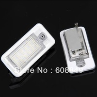 Free shipping 10pairs White 18 SMD LED License Plate Lights Lamps Bulbs for Audi A3 A4 8E RS4 A6 Q7