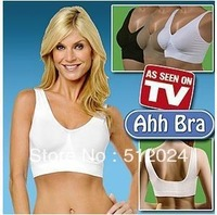 Ahh Sexy Seamless yoga sport leisure Bras sexy shaper bra tops vest ( beige /black/ white ) 3pcs -retail box Free shipping