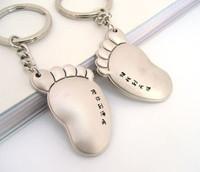 Fashion Promotion Big feet Keychain,Key Ring wedding gift lovers Keyring Holder Finder Key-ring  Car 100pcs/lot Free Shipping