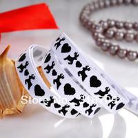 "free shipping 3/8"" 100yards/roll deer flower printed grosgrain ribbon wholesale"