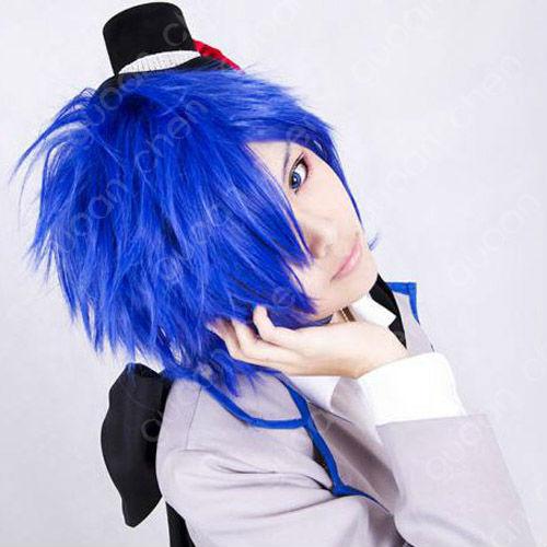 تقرير عن فرقة vocaloid Vocaloid-Kaito-Blue-Short-layered-Anime-Cospaly-Wig-Free-Wig-Cap
